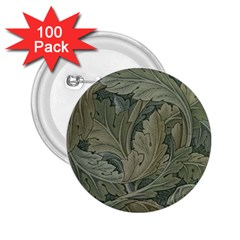 Vintage Background Green Leaves 2.25  Buttons (100 pack)