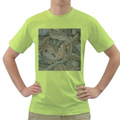 Vintage Background Green Leaves Green T-Shirt