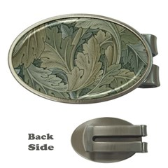Vintage Background Green Leaves Money Clips (Oval)