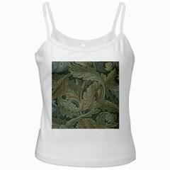 Vintage Background Green Leaves Ladies Camisoles