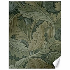 Vintage Background Green Leaves Canvas 18  X 24