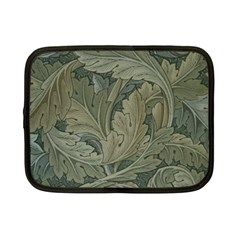 Vintage Background Green Leaves Netbook Case (Small)