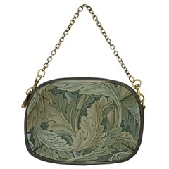 Vintage Background Green Leaves Chain Purses (Two Sides)