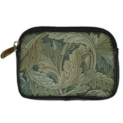 Vintage Background Green Leaves Digital Camera Cases