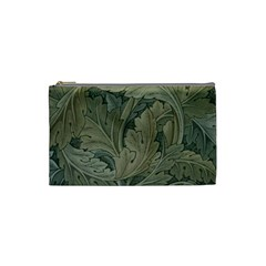 Vintage Background Green Leaves Cosmetic Bag (Small)