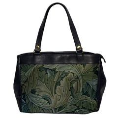 Vintage Background Green Leaves Office Handbags