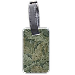 Vintage Background Green Leaves Luggage Tags (one Side)