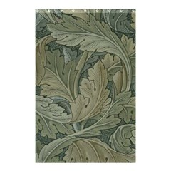 Vintage Background Green Leaves Shower Curtain 48  X 72  (small)