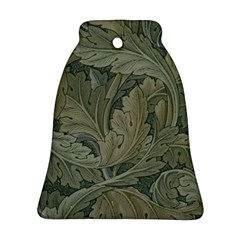 Vintage Background Green Leaves Bell Ornament (Two Sides)