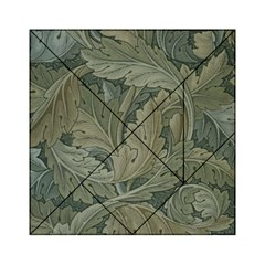 Vintage Background Green Leaves Acrylic Tangram Puzzle (6  x 6 )