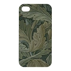 Vintage Background Green Leaves Apple Iphone 4/4s Premium Hardshell Case