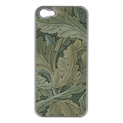 Vintage Background Green Leaves Apple iPhone 5 Case (Silver)