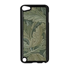 Vintage Background Green Leaves Apple iPod Touch 5 Case (Black)