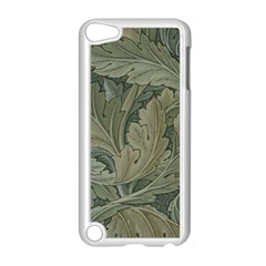 Vintage Background Green Leaves Apple iPod Touch 5 Case (White)
