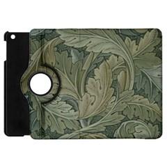 Vintage Background Green Leaves Apple iPad Mini Flip 360 Case