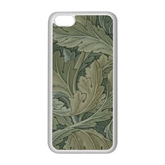 Vintage Background Green Leaves Apple iPhone 5C Seamless Case (White)