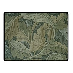 Vintage Background Green Leaves Double Sided Fleece Blanket (Small)