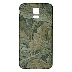 Vintage Background Green Leaves Samsung Galaxy S5 Back Case (White)