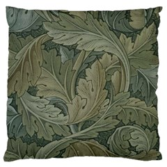 Vintage Background Green Leaves Large Flano Cushion Case (One Side)