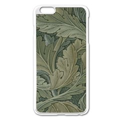 Vintage Background Green Leaves Apple iPhone 6 Plus/6S Plus Enamel White Case