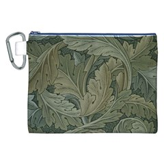 Vintage Background Green Leaves Canvas Cosmetic Bag (XXL)