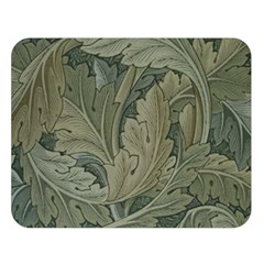 Vintage Background Green Leaves Double Sided Flano Blanket (large)