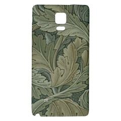 Vintage Background Green Leaves Galaxy Note 4 Back Case