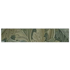 Vintage Background Green Leaves Flano Scarf (Small)