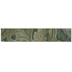 Vintage Background Green Leaves Flano Scarf (Large)