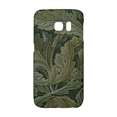 Vintage Background Green Leaves Galaxy S6 Edge