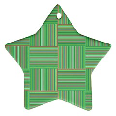 Geometric Pinstripes Shapes Hues Ornament (star)