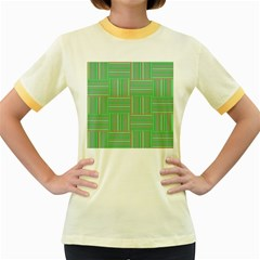 Geometric Pinstripes Shapes Hues Women s Fitted Ringer T-Shirts