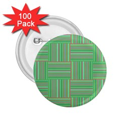 Geometric Pinstripes Shapes Hues 2.25  Buttons (100 pack)
