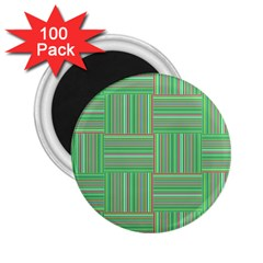 Geometric Pinstripes Shapes Hues 2 25  Magnets (100 Pack)