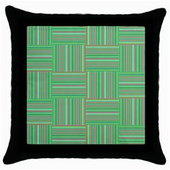 Geometric Pinstripes Shapes Hues Throw Pillow Case (Black)