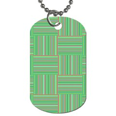 Geometric Pinstripes Shapes Hues Dog Tag (One Side)