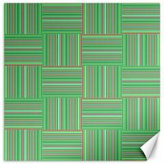 Geometric Pinstripes Shapes Hues Canvas 12  X 12