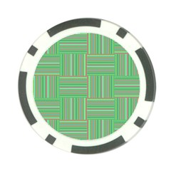 Geometric Pinstripes Shapes Hues Poker Chip Card Guard
