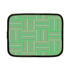 Geometric Pinstripes Shapes Hues Netbook Case (small)