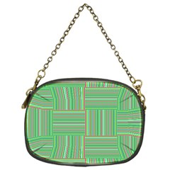 Geometric Pinstripes Shapes Hues Chain Purses (One Side)