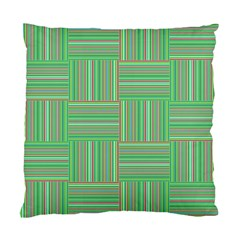 Geometric Pinstripes Shapes Hues Standard Cushion Case (One Side)