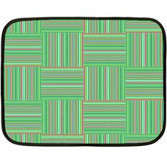 Geometric Pinstripes Shapes Hues Double Sided Fleece Blanket (mini)