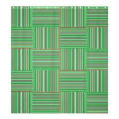 Geometric Pinstripes Shapes Hues Shower Curtain 66  X 72  (large)