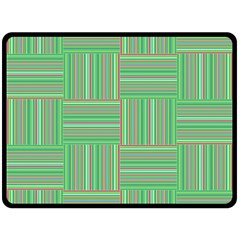 Geometric Pinstripes Shapes Hues Fleece Blanket (Large)