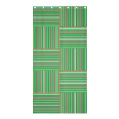 Geometric Pinstripes Shapes Hues Shower Curtain 36  x 72  (Stall)