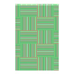 Geometric Pinstripes Shapes Hues Shower Curtain 48  X 72  (small)