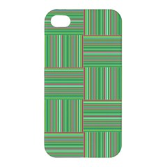 Geometric Pinstripes Shapes Hues Apple iPhone 4/4S Hardshell Case