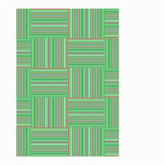 Geometric Pinstripes Shapes Hues Small Garden Flag (Two Sides)