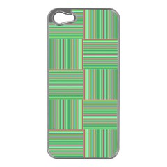 Geometric Pinstripes Shapes Hues Apple iPhone 5 Case (Silver)