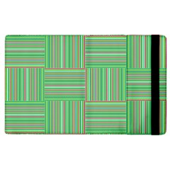 Geometric Pinstripes Shapes Hues Apple iPad 3/4 Flip Case